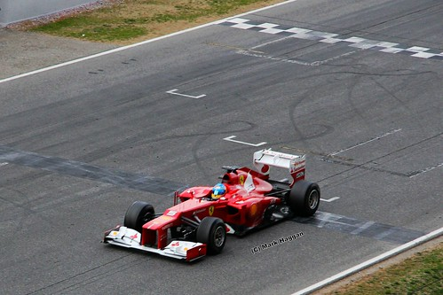 Fernando Alonso in his Ferrari in Formula One Winter Testing, Circuit de Catalunya, March 2012