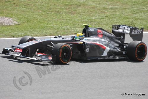 Esteban Gutierrez in Free Practice 2 at the 2013 Spanish Grand Prix