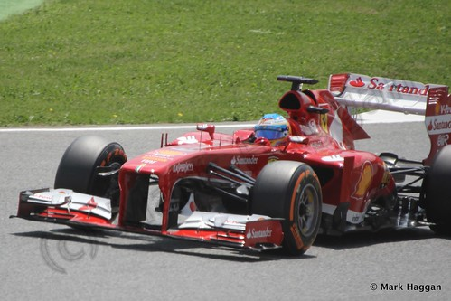 Fernando Alonso in qualifying for the 2013 Spanish Grand Prix