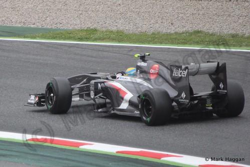 Esteban Gutierrez in Free Practice 1 at the 2013 Spanish Grand Prix