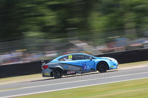 Chris Smiley during the BTCC weekend at Oulton Park, June 2016