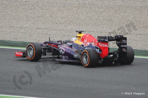 Sebastian Vettel in Free Practice 1 at the 2013 Spanish Grand Prix
