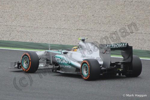 Lewis Hamilton in Free Practice 1 at the 2013 Spanish Grand Prix
