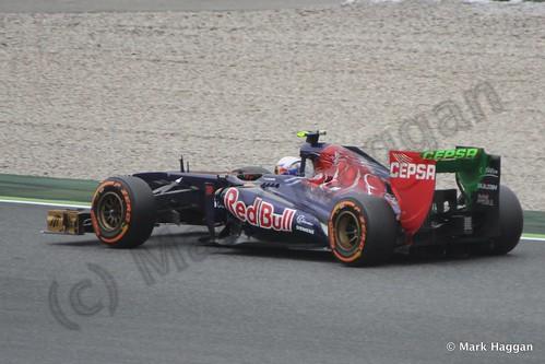 Daniel Ricciardo in Free Practice 1 at the 2013 Spanish Grand Prix