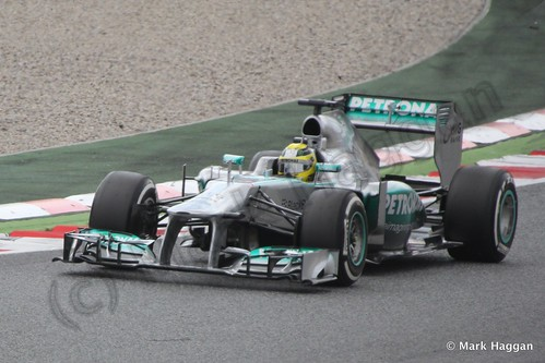 Lewis Hamilton in Free Practice 3 for the 2013 Spanish Grand Prix