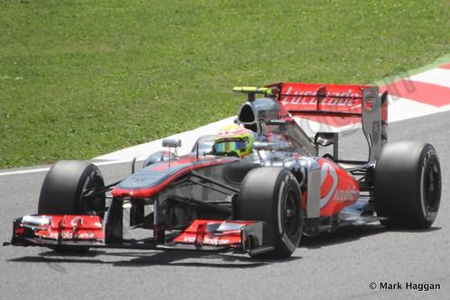 Sergio Perez in the 2013 Spanish Grand Prix