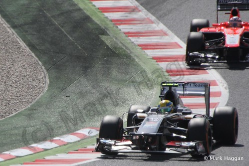 Esteban Gutierrez in Free Practice 3 for the 2013 Spanish Grand Prix