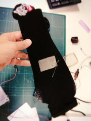 sewing conductive fabric