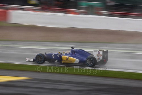 Marcus Ericsson in his Sauber in the 2016 British Grand Prix