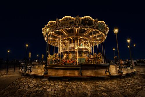 light luz night noche go round nocturna honfleur merry... (Photo: photojordi® on Flickr)