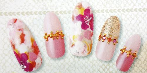 花朵光療指甲