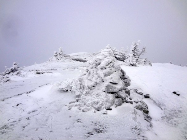 Saddleback Mountain Cairn on the Appalachian Trail