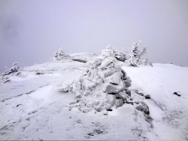 Saddleback Mountain Cairn on the Appalachian Trail