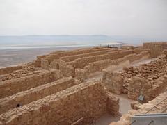 Masada - ruins of Herod's storerooms
