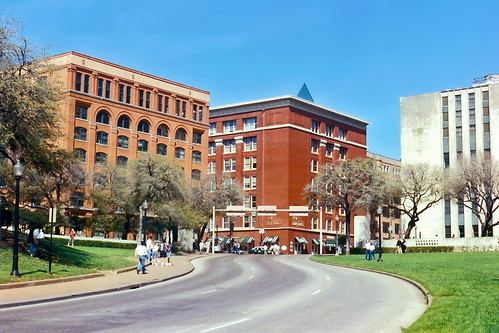 Looking up Elm Street, Dealey Plaza, Dallas