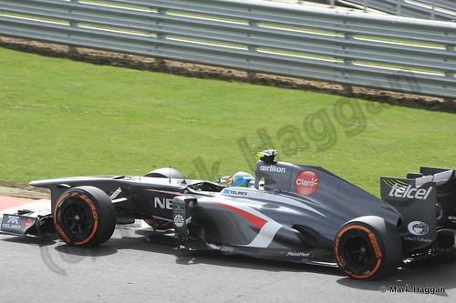 Esteban Gutierrez in qualifying for the 2013 British Grand Prix