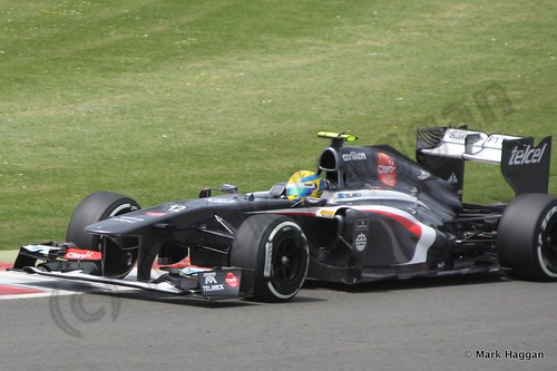 Esteban Gutierrez in Qualifying for the 2013 British Grand Prix