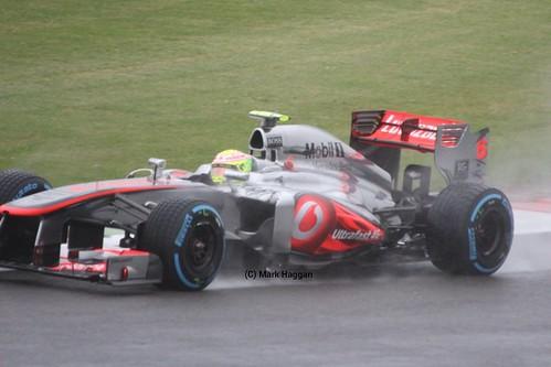 Sergio Perez in his McLaren at FP1 for the 2013 British Grand Prix