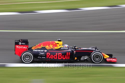 Daniel Ricciardo in the Red Bull in Free Practice 1 at the 2016 British Grand Prix