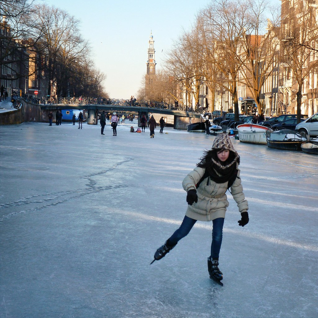Holland Ice Skating Painting