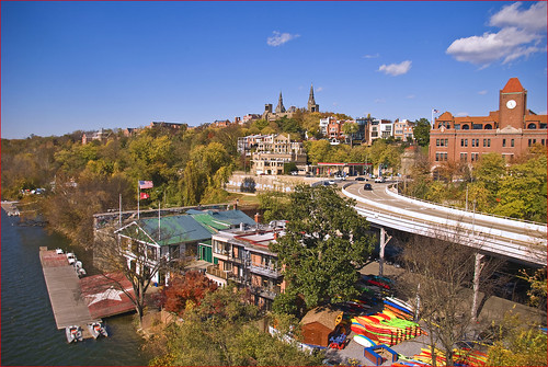 Key Bridge Boathouse, Georgetown University, a...