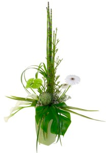 Formal Linear Flowers — David Kesler, Floral Design Institute, Inc., in Portland, Ore.