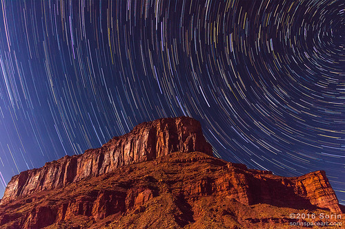 Star Trails Over Moab