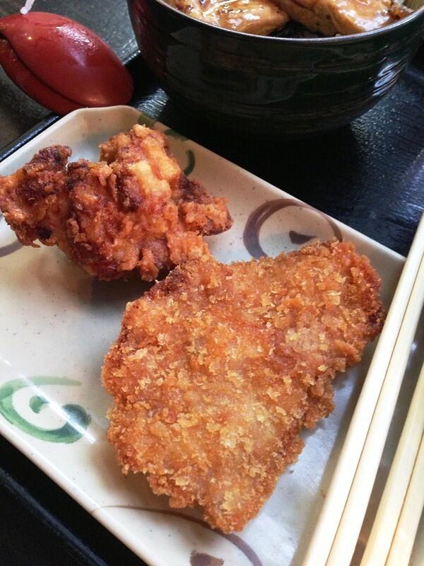 Chicken and pork katsu