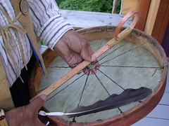Traditional drum used by Tr'ondëk Hwëch'in
