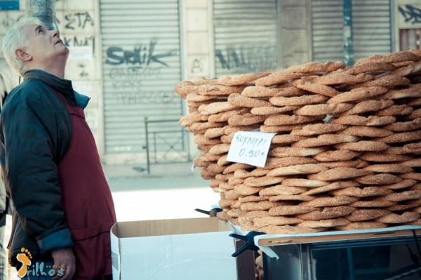 Koulouria - Greek Sesame Bread Rings