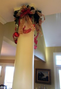 Custom Christmas Decorations - Column Topper - Lisa Greene, AAF, AIFD, PFCI