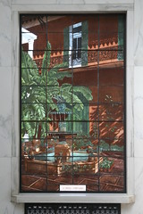 Creole courtyard in stained glass