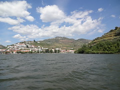 Pinhao from the tourist rabelo (boat)