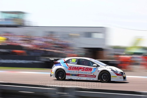 Matt Simpson during the BTCC Weekend at Thruxton, May 2016
