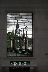 Stained glass- St Louis on a cloudy day
