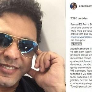 Zezé di Camargo diz ter sido ameaçado de morte em rede social