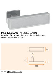IN.00.161.NS NIQUEL SATIN