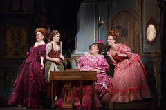 Beth Glover, Paige Faure, Aymee Garcia and Kaitlyn Davidson in Rodgers + Hammerstein's Cinderella presented by Broadway Sacramento at the Sacramento Community Center Theater May 12 – 17, 2015. Photo by Carol Rosegg.