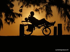 Recumbent on sunset