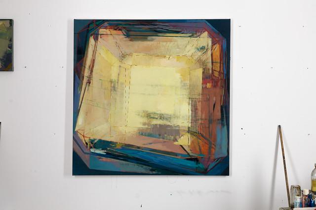 sunS, 120 x 120 cm, Eggtempera/Oil-Pigments,2014