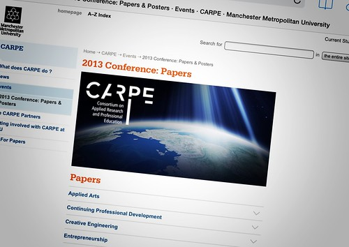 Today is all about...the end of the CARPE conference