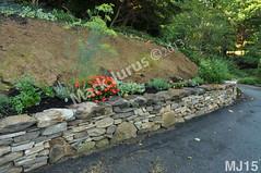 WM Mark Jurus 15, retaining wall, flat cap stones, dry laid stone construction, copyright 2014