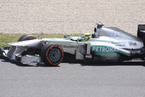 Lewis Hamilton at the 2013 Spanish Grand Prix