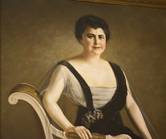 altered Edith Wilson portrait - Woodrow Wilson...