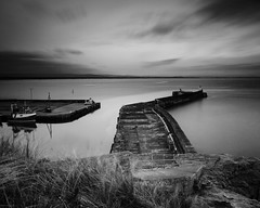 "Late Evening at Burghead Harbour III (Mono) • <a style=""font-size:0.8em;"" href=""http://www.flickr.com/photos/26440756@N06/14169430791/"" target=""_blank"">View on Flickr</a>"