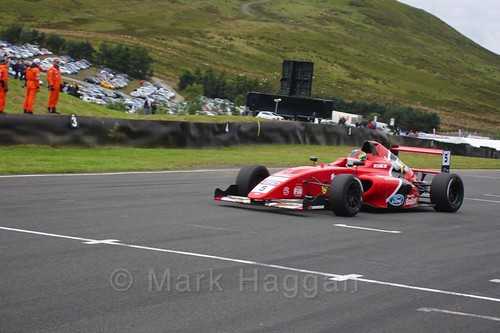 Frank Bird in British Formula Four race 2 during the BTCC Knockhill Weekend 2016