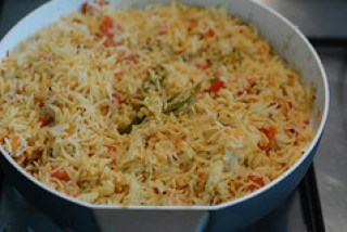 tomato rice recipe, south indian style tomato rice recipe-9