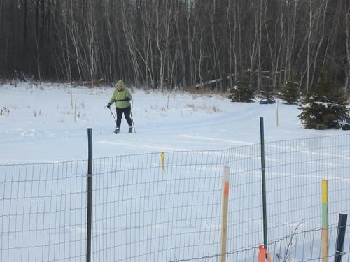Skier enjoying the new trail