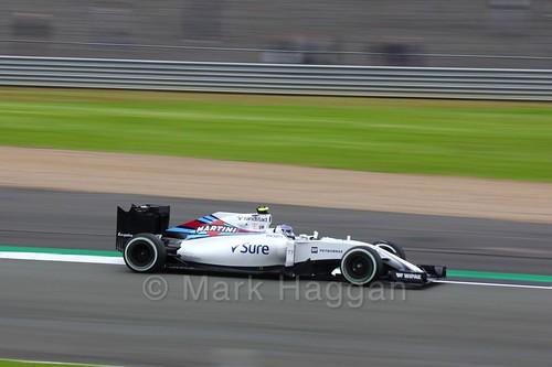 Valtteri Bottas in his Williams during Free Practice 1 at the 2016 British Grand Prix