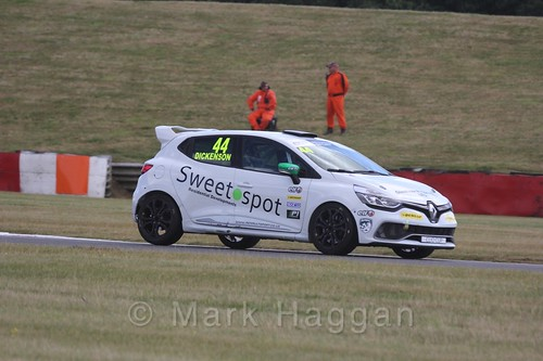 David Dickenson in the Clio Cup during the BTCC 2016 Weekend at Snetterton